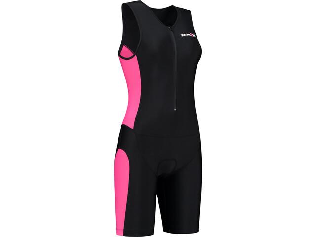 Dare2Tri Frontzip Trisuit Dames, black-pink